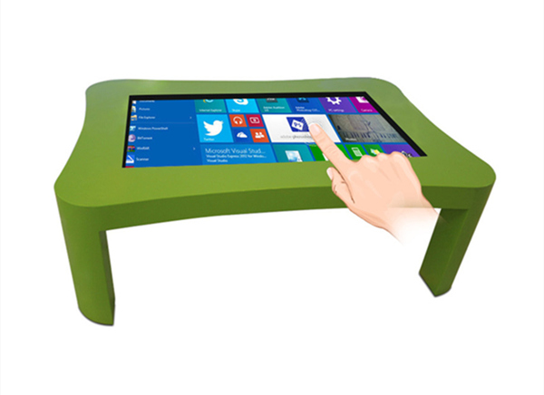 The touch screen table goes deep into the our home life