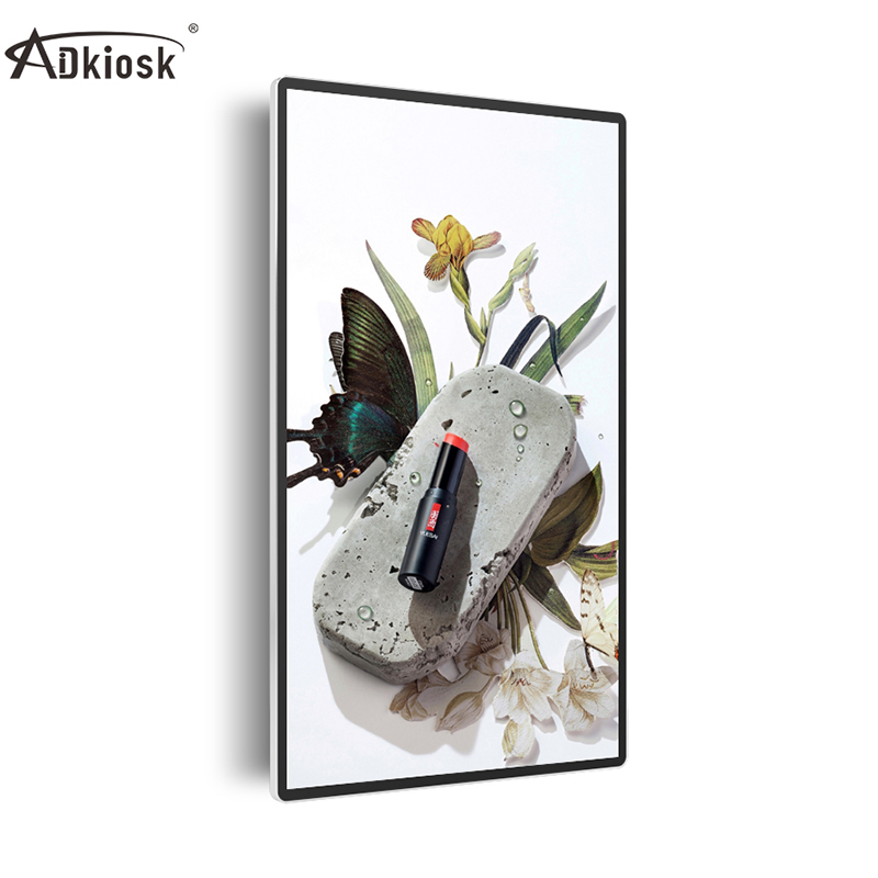 USB Wall mounted LCD digital signage advertising player