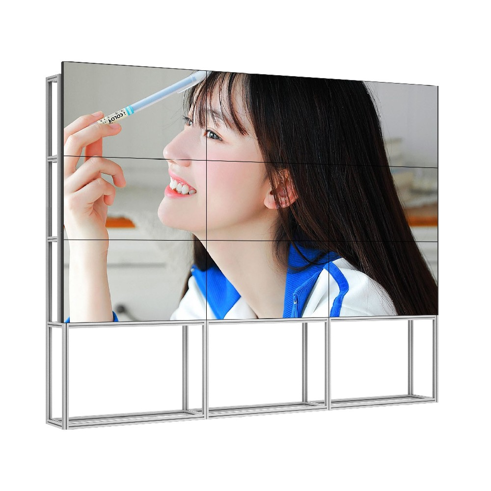 Aluminum Frame Free Stand LCD screen video wall panel