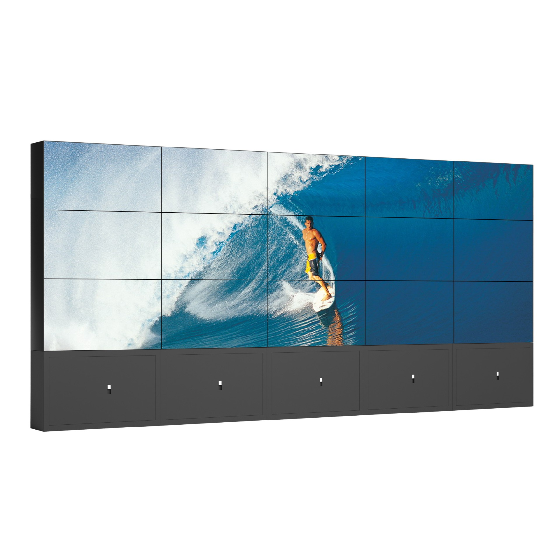 Free stand cabinet HD LCD screen video wall CCTV player