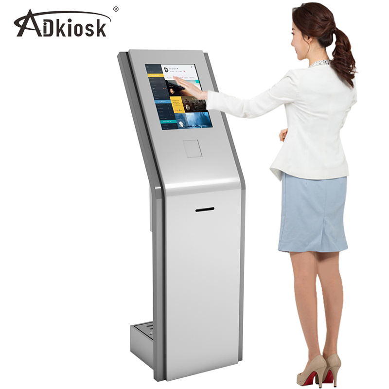 17 inch LCD touch screen intelligent number calling and printing kiosk
